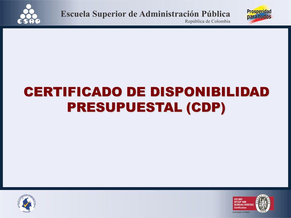 CERTIFICADO DE DISPONIBILIDAD