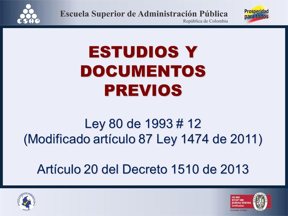 ESTUDIOS Y DOCUMENTOS PREVIOS