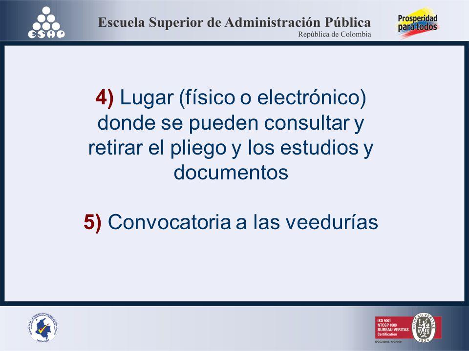 4) Lugar (físico o electrónico) donde se pueden consultar y