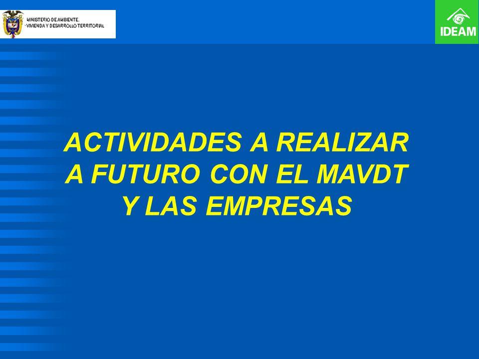 ACTIVIDADES A REALIZAR A FUTURO CON EL MAVDT Y LAS EMPRESAS