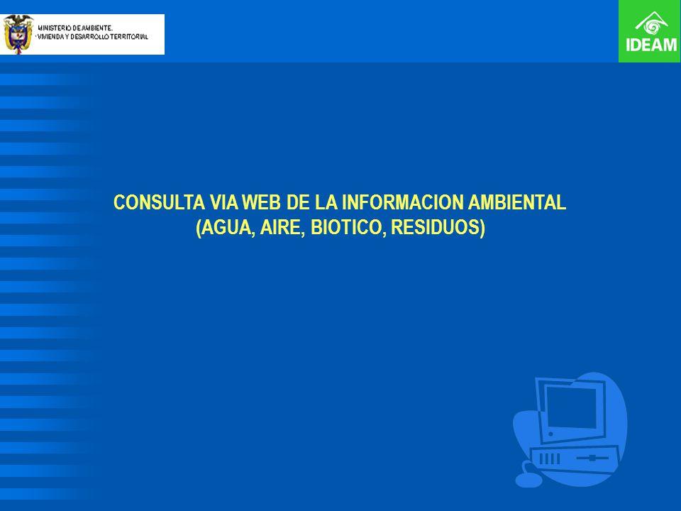 CONSULTA VIA WEB DE LA INFORMACION AMBIENTAL