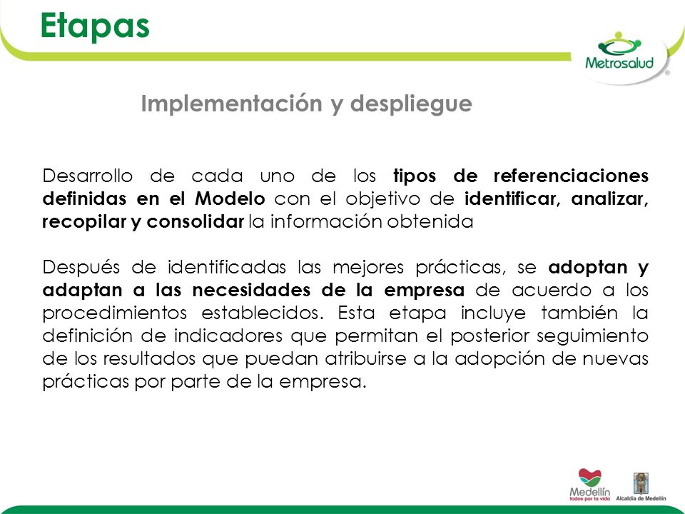 Etapas Implementación y despliegue