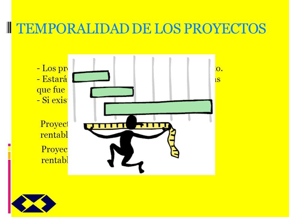 TEMPORALIDAD DE LOS PROYECTOS