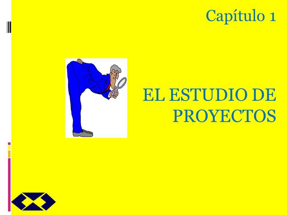 Capítulo 1 EL ESTUDIO DE PROYECTOS