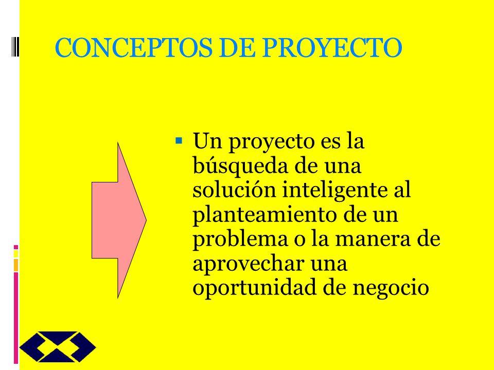 CONCEPTOS DE PROYECTO