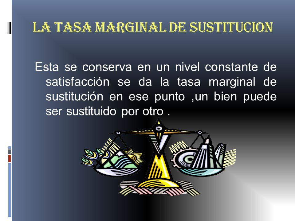 LA TASA MARGINAL DE SUSTITUCION