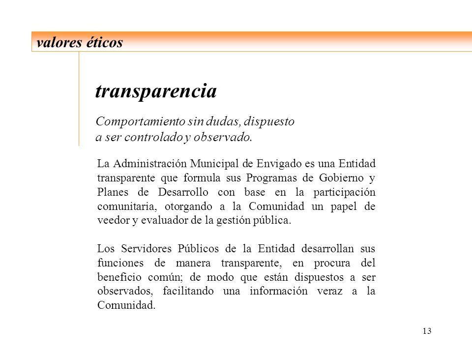 transparencia valores éticos Comportamiento sin dudas, dispuesto