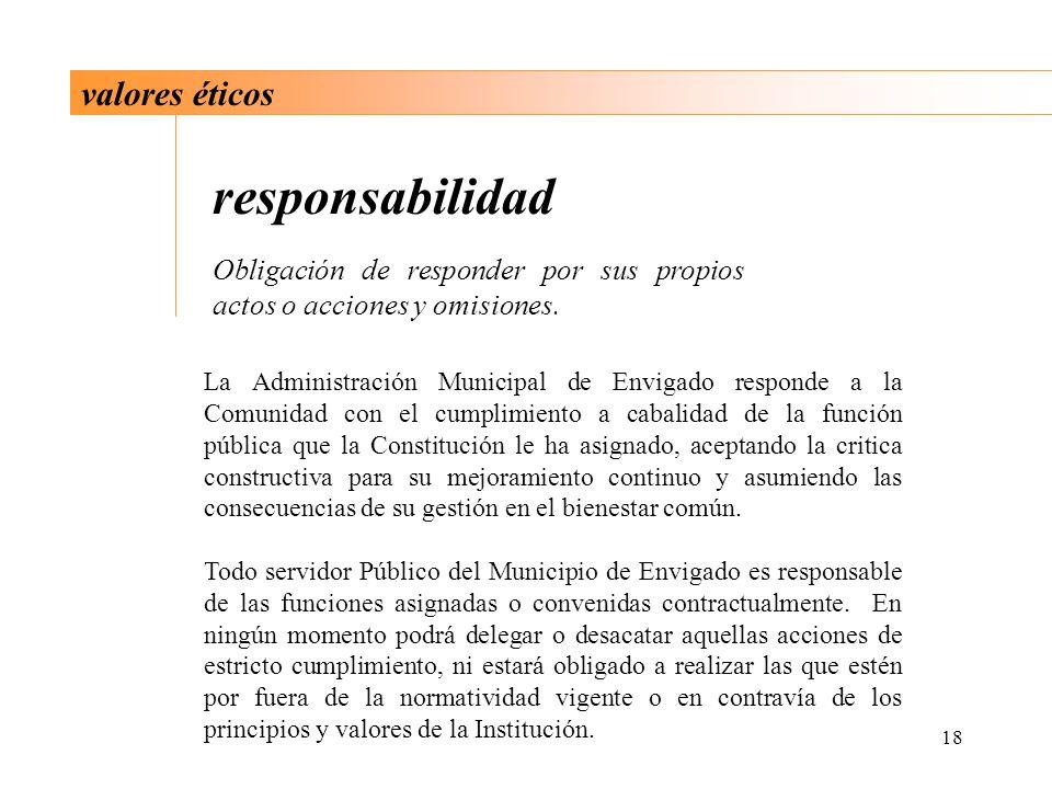 responsabilidad valores éticos
