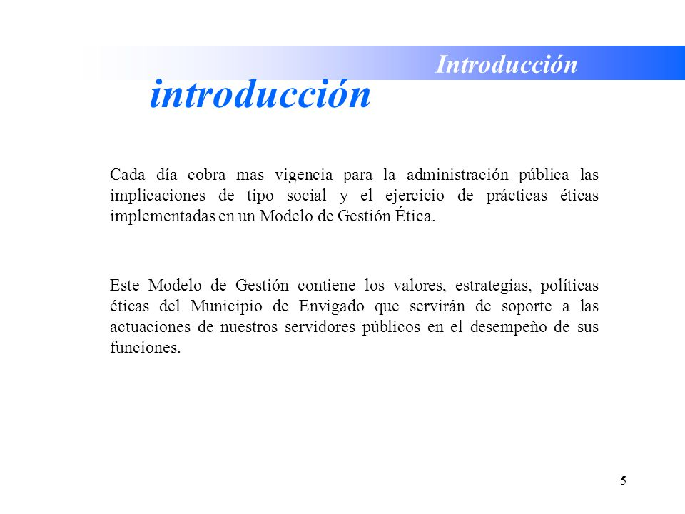 introducción Introducción