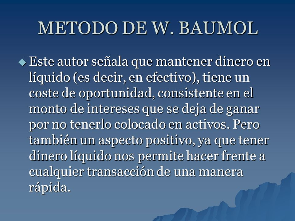 METODO DE W. BAUMOL