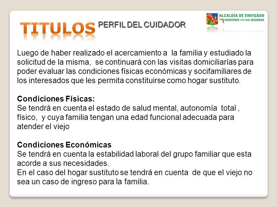 TITULOS PERFIL DEL CUIDADOR