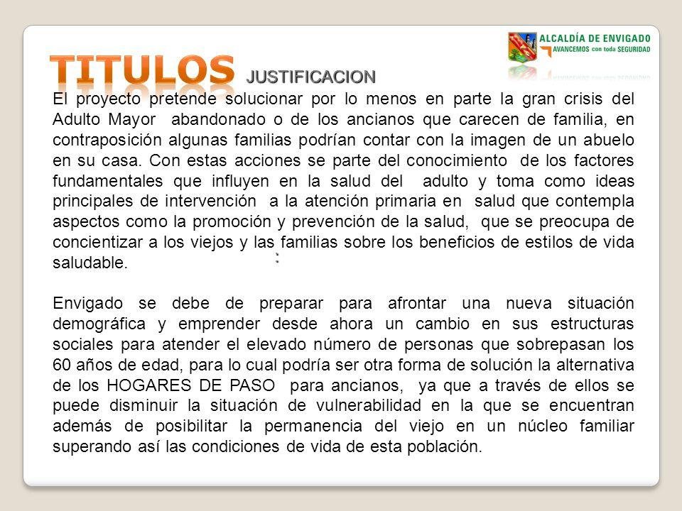 TITULOS JUSTIFICACION