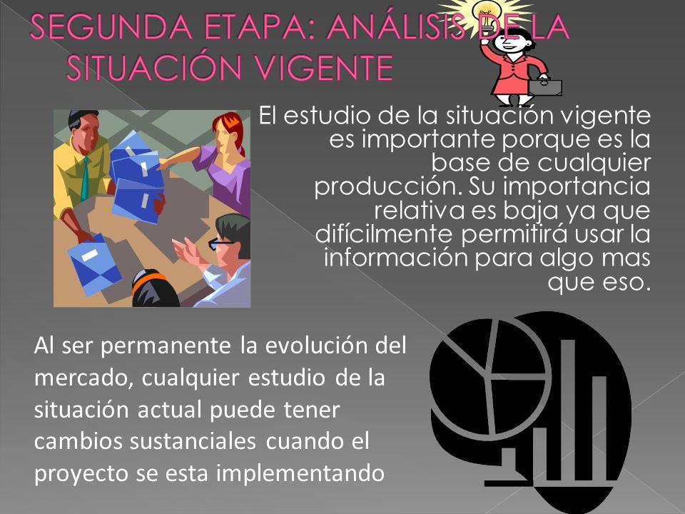 SEGUNDA ETAPA: ANÁLISIS DE LA SITUACIÓN VIGENTE