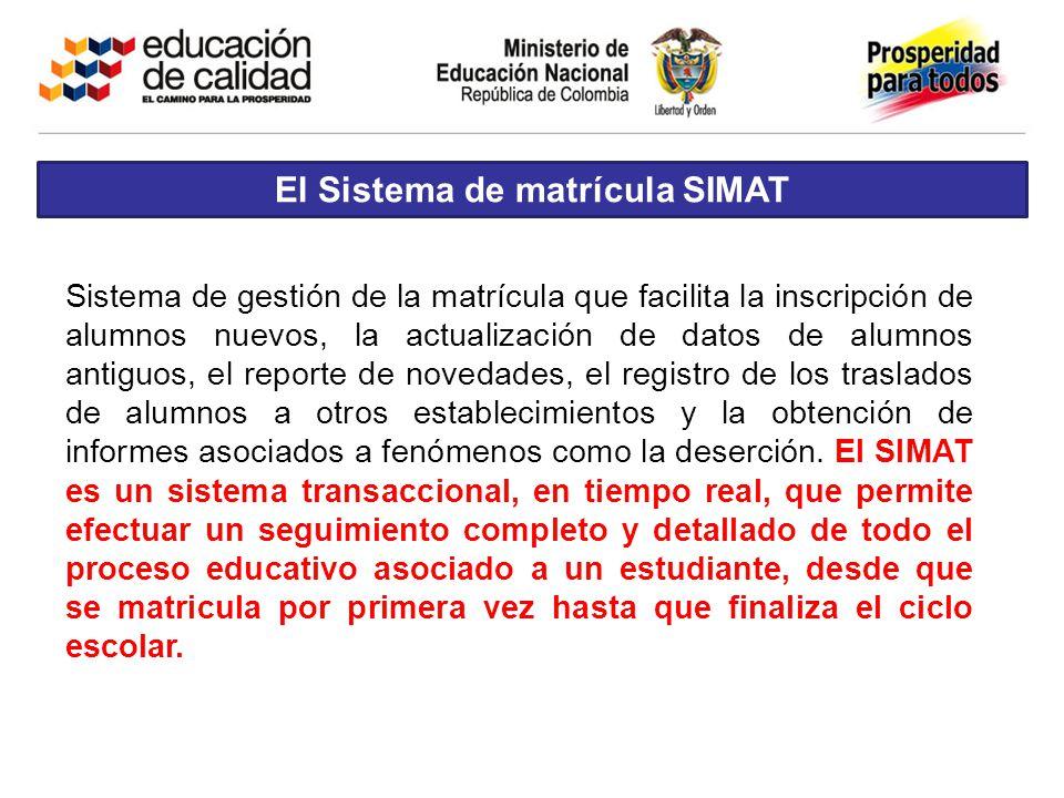 El Sistema de matrícula SIMAT