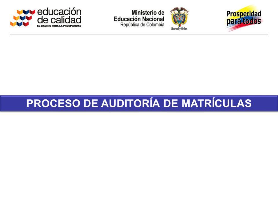PROCESO DE AUDITORÍA DE MATRÍCULAS
