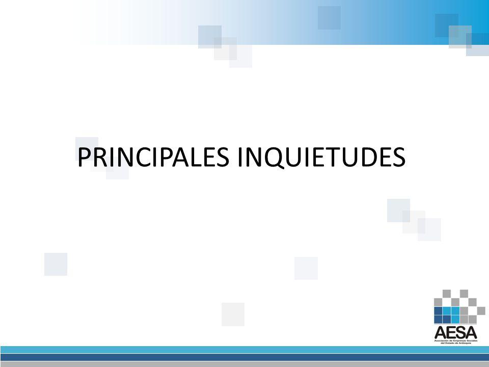 PRINCIPALES INQUIETUDES