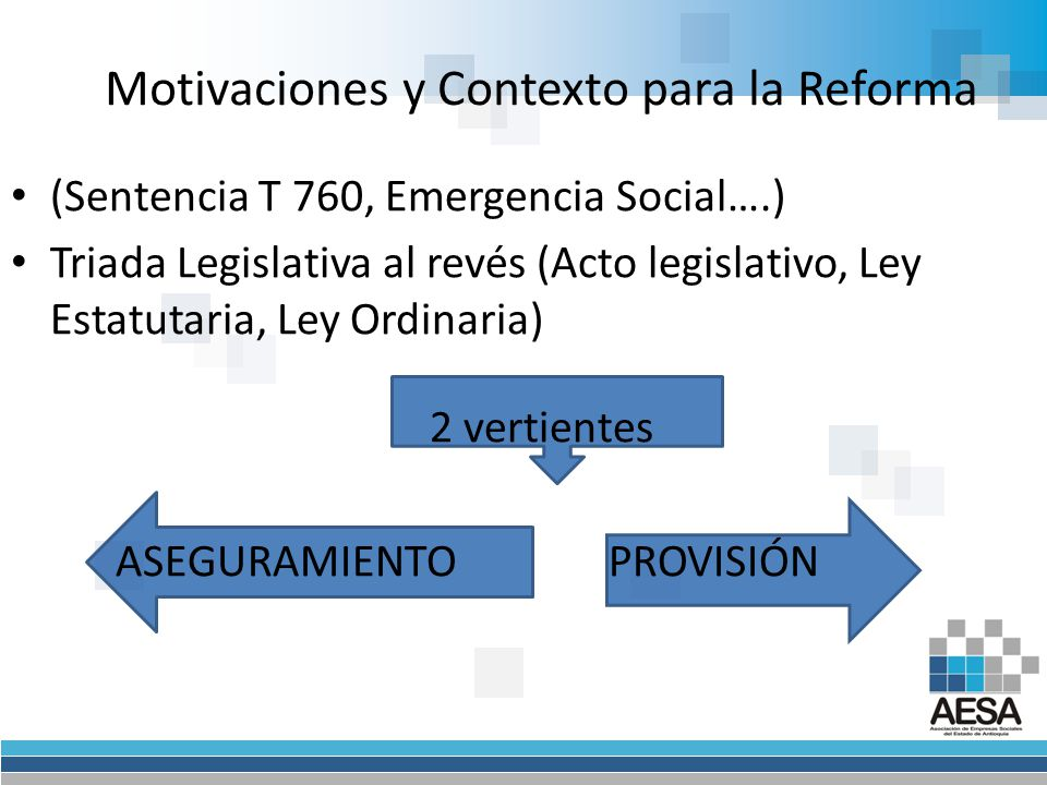 Motivaciones y Contexto para la Reforma
