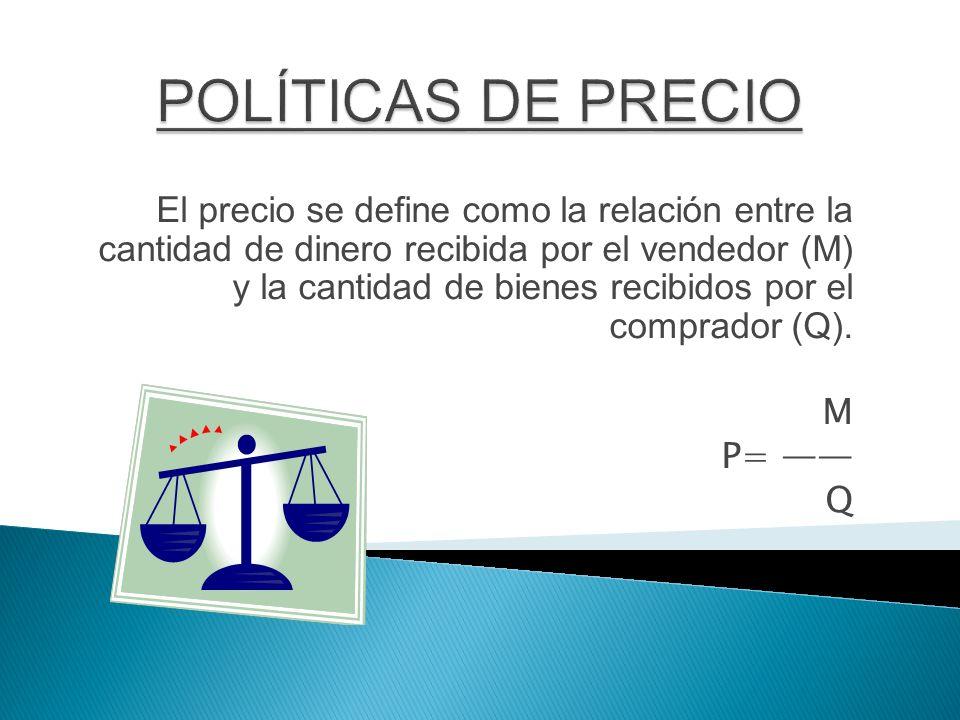 POLÍTICAS DE PRECIO