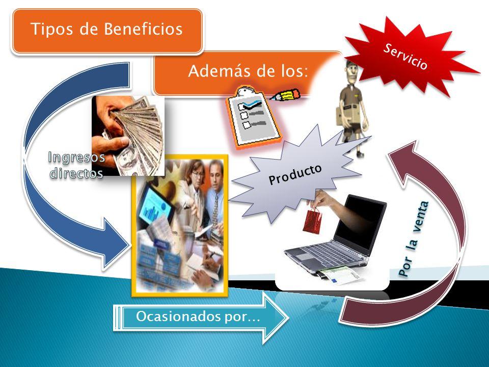 Tipos de Beneficios Además de los: Ingresos directos Ocasionados por…