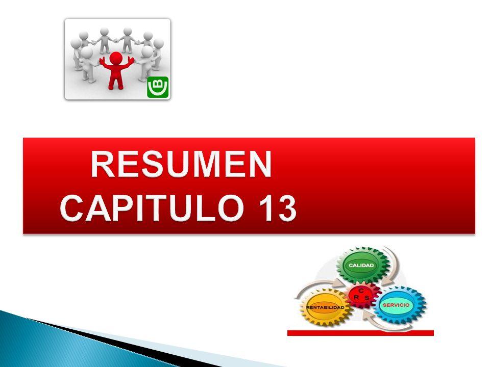 RESUMEN CAPITULO 13