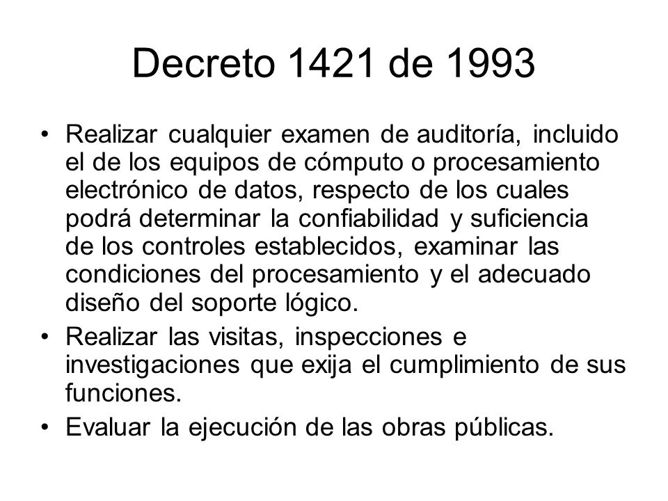 Decreto 1421 de 1993