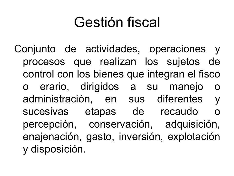Gestión fiscal