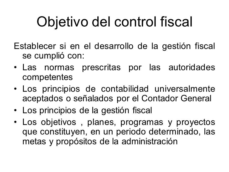 Objetivo del control fiscal