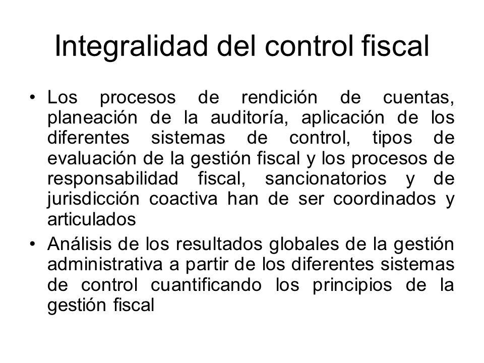 Integralidad del control fiscal