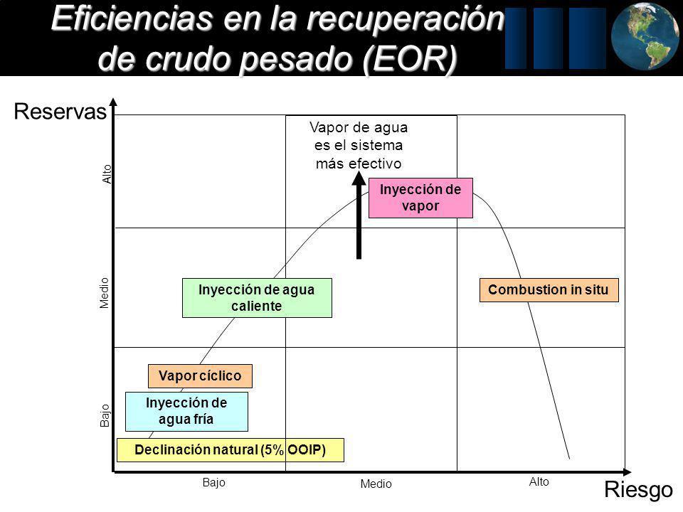 Eficiencias en la recuperación de crudo pesado (EOR)