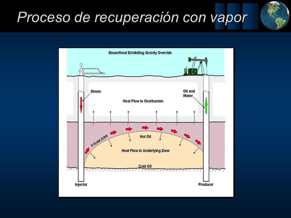 Proceso de recuperación con vapor