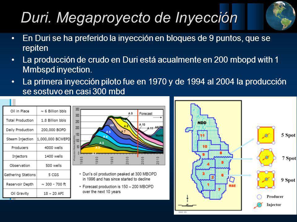 Duri. Megaproyecto de Inyección