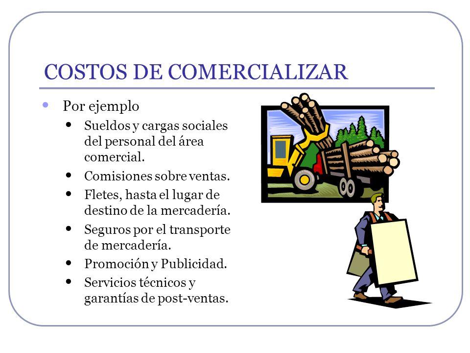 COSTOS DE COMERCIALIZAR