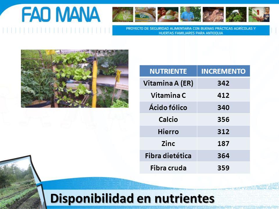 Disponibilidad en nutrientes
