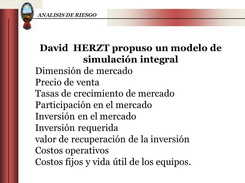 David HERZT propuso un modelo de simulación integral