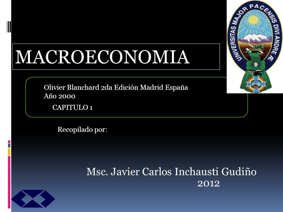 Msc. Javier Carlos Inchausti Gudiño