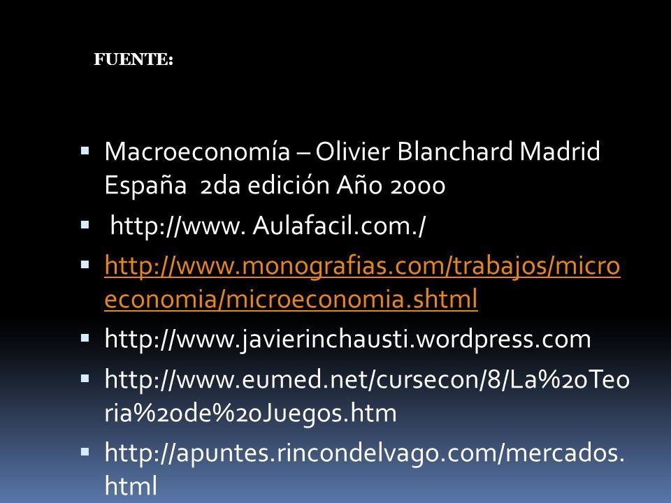 Macroeconomía – Olivier Blanchard Madrid España 2da edición Año 2000