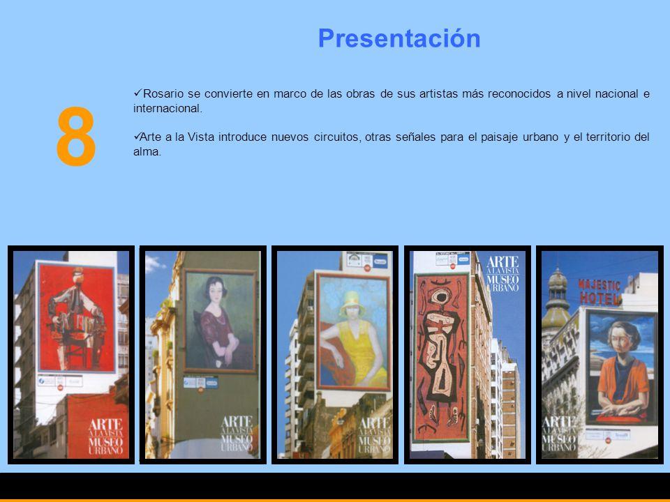 Presentación 8. Rosario se convierte en marco de las obras de sus artistas más reconocidos a nivel nacional e internacional.