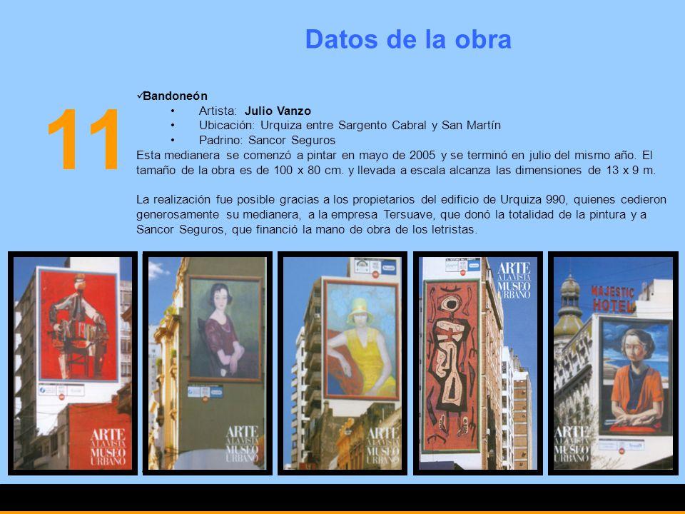 11 Datos de la obra Bandoneón Artista: Julio Vanzo
