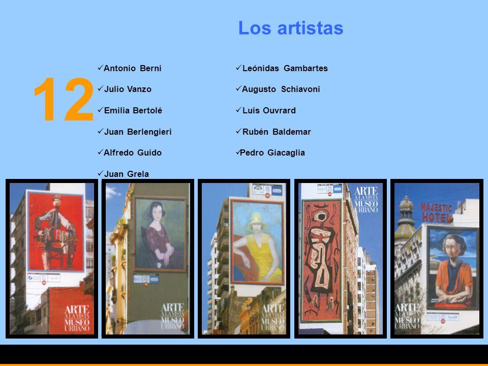 12 Los artistas Antonio Berni Julio Vanzo Emilia Bertolé