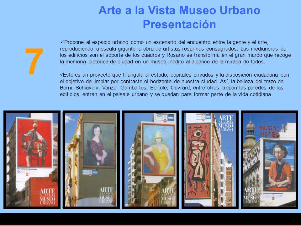 Arte a la Vista Museo Urbano Presentación