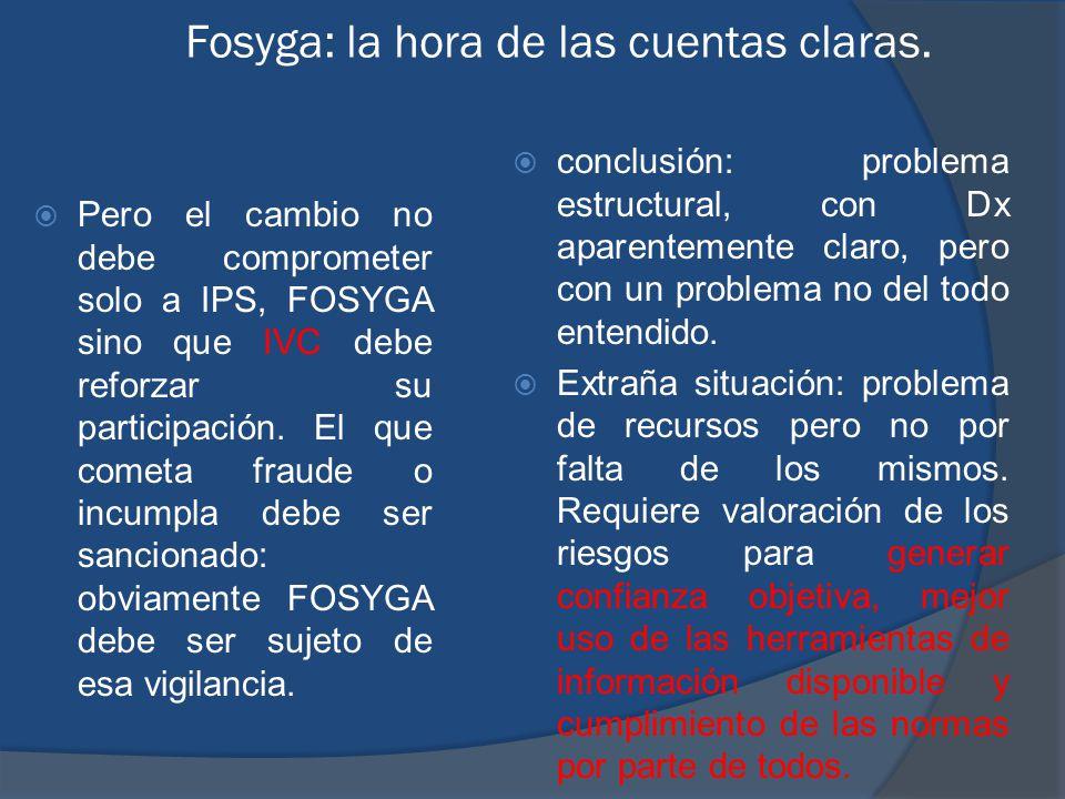 Fosyga: la hora de las cuentas claras.
