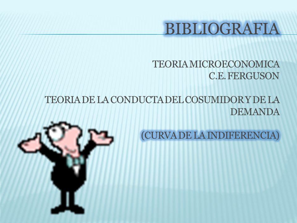 BIBLIOGRAFIA TEORIA MICROECONOMICA C. E