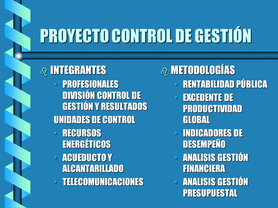 PROYECTO CONTROL DE GESTIÓN