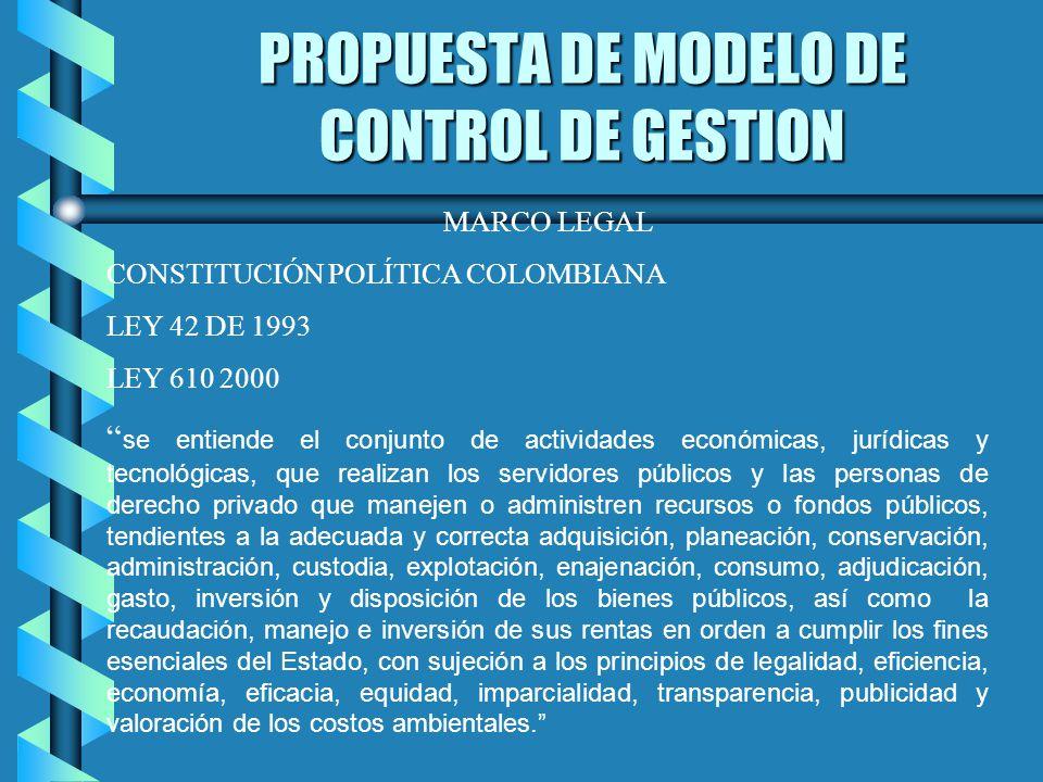 PROPUESTA DE MODELO DE CONTROL DE GESTION