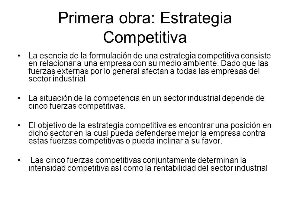 Primera obra: Estrategia Competitiva