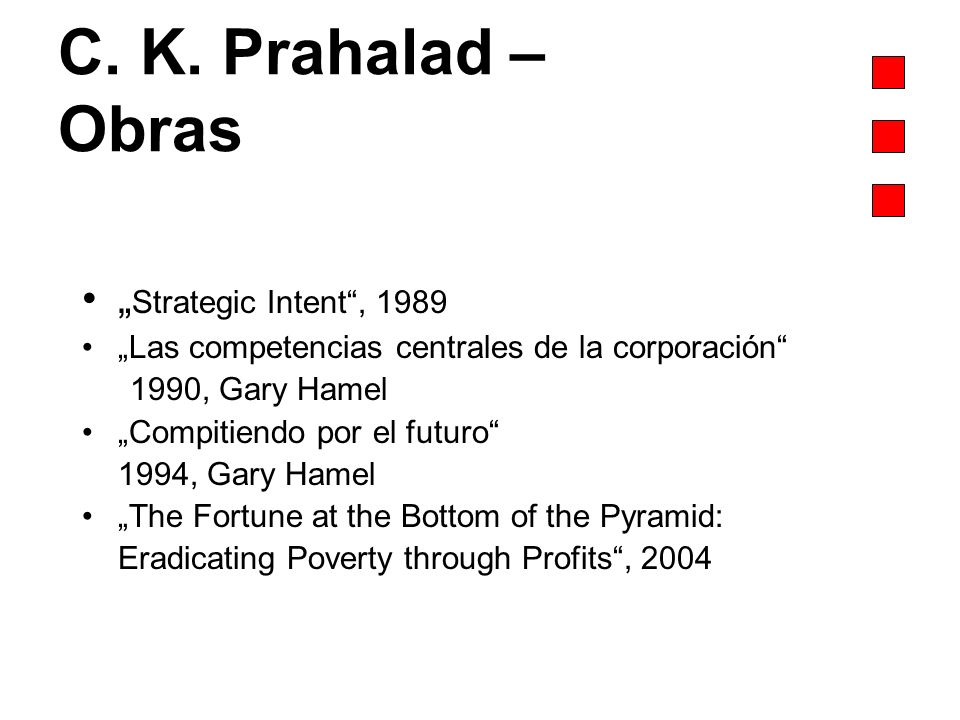 "C. K. Prahalad – Obras ""Strategic Intent , 1989"