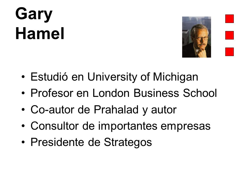 Gary Hamel Estudió en University of Michigan