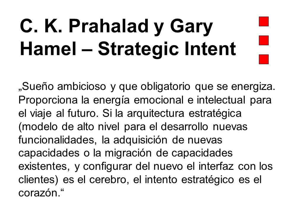 C. K. Prahalad y Gary Hamel – Strategic Intent