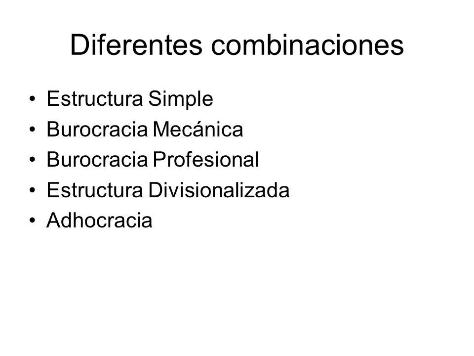 Diferentes combinaciones
