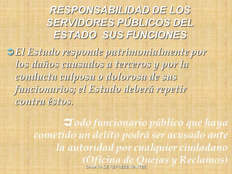 RESPONSABILIDAD DE LOS SERVIDORES PÚBLICOS DEL ESTADO SUS FUNCIONES